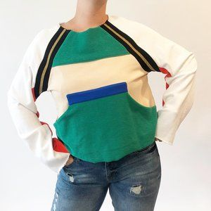 PE Nation Colorblock Outswinging Sweatshirt S